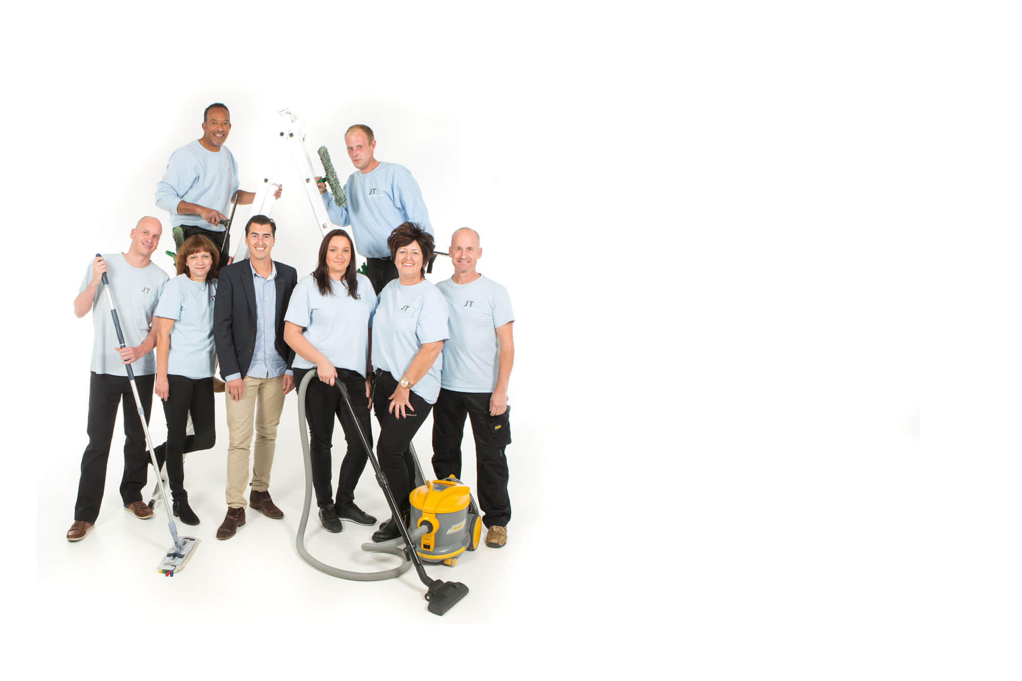 Ons schoonmaak en glazenwasser team ut Veenendaal